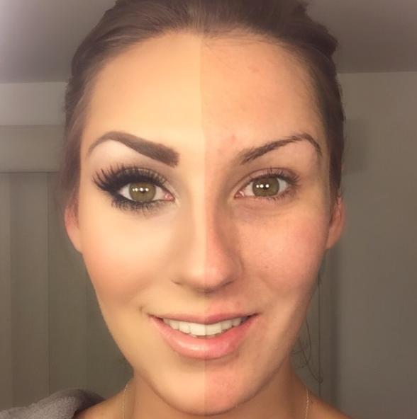 Магия макияжа: половину лица оставили ненакрашенной