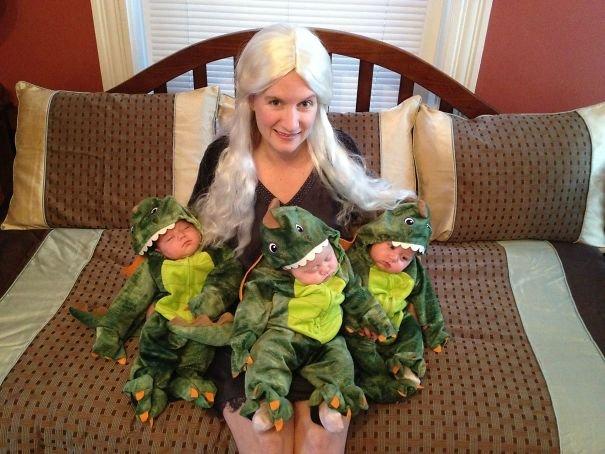 Удивительные костюмы на Хэллоуин для родителей с детьми