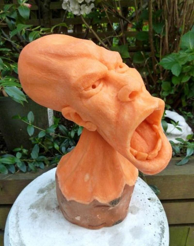 Резные головы из тыкв от Клайва Купера