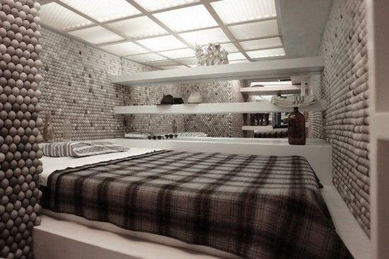 Квартира и стены из шариков для пин-понга