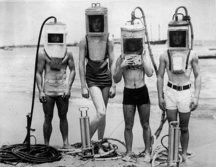 Водолазные костюмы столетней давности