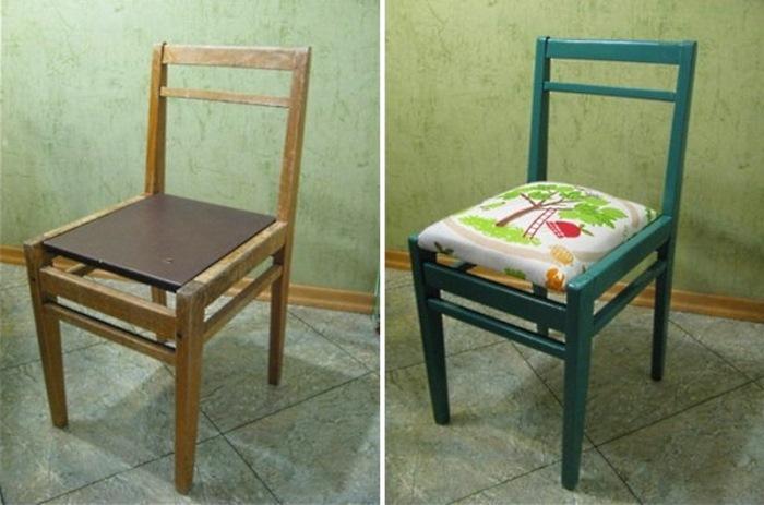 Советская мебель до и после переделки