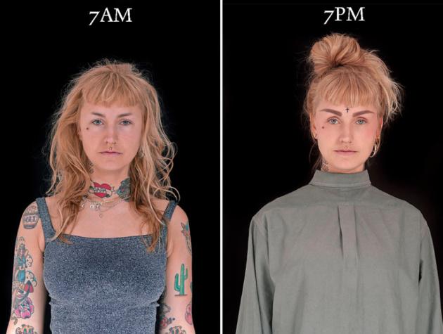 7 утра и 7 вечера в фотопроекте Барбары Ивейнс