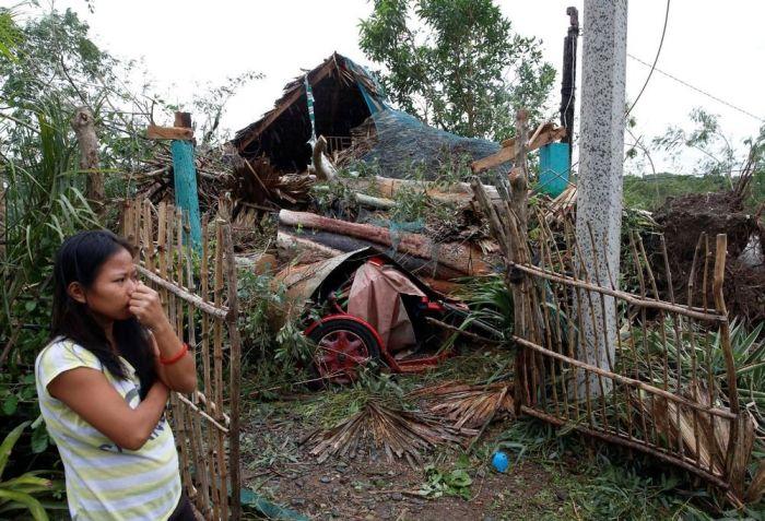 Последствия мощного тайфуна Хайма на Филиппинах