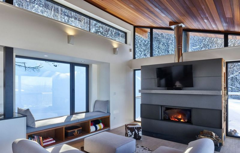Шале для семейного отдыха на склоне горы в Канаде