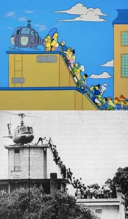 Как в Симпсонах воссоздали ключевые моменты мировой истории