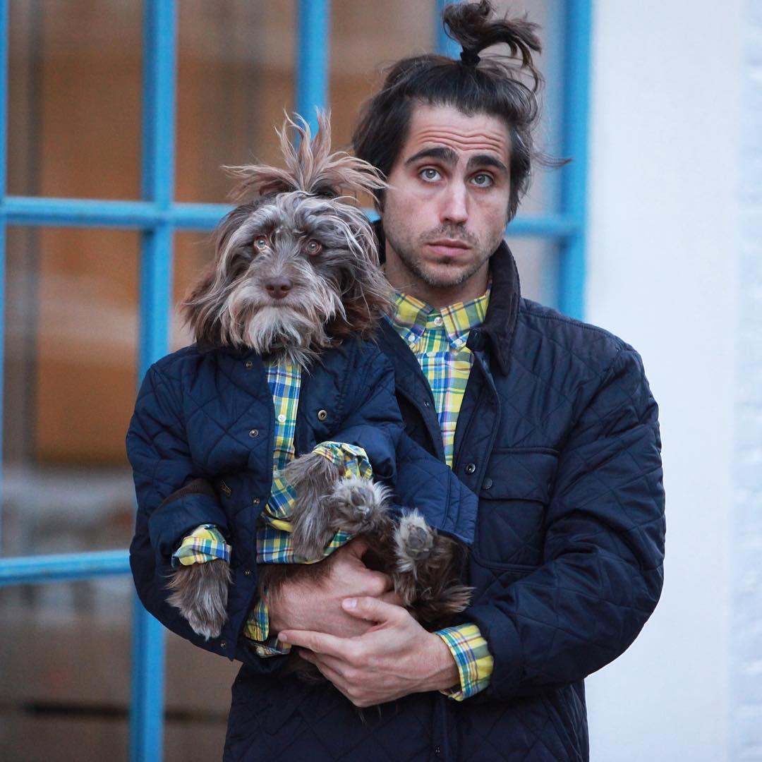 Парень и его собака просто нереально похожи