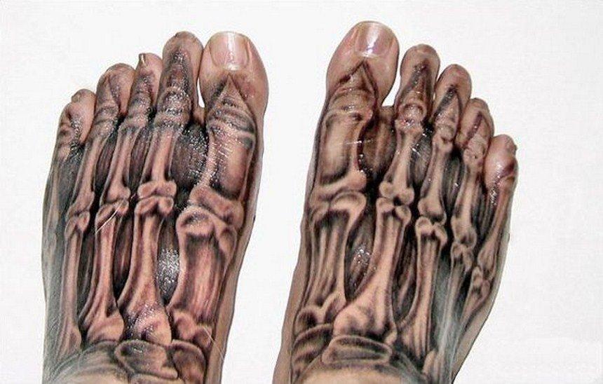 Жутковатые реалистичные татуировки