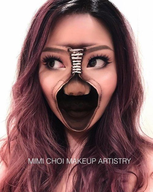 Невероятные иллюзии на лице визажиста Мими Чой