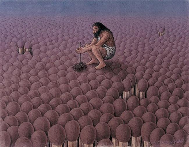 Атмосферные картины от художника Гурбуза Эксиоглу