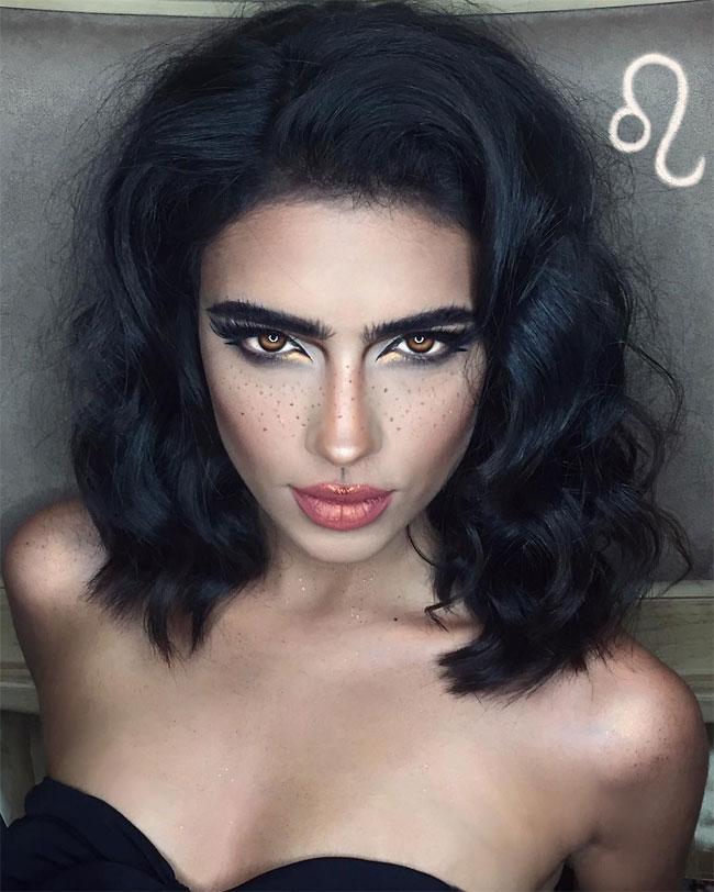 Иранская художница с помощью макияжа создала образы знаков зодиака