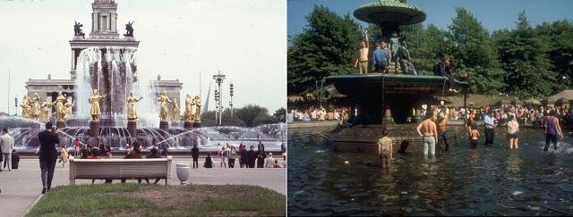 Восток и Запад: цветные фото Москвы и Нью-Йорка в 1969 году