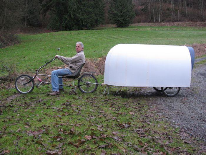 Американец построил велодомик для путешествий