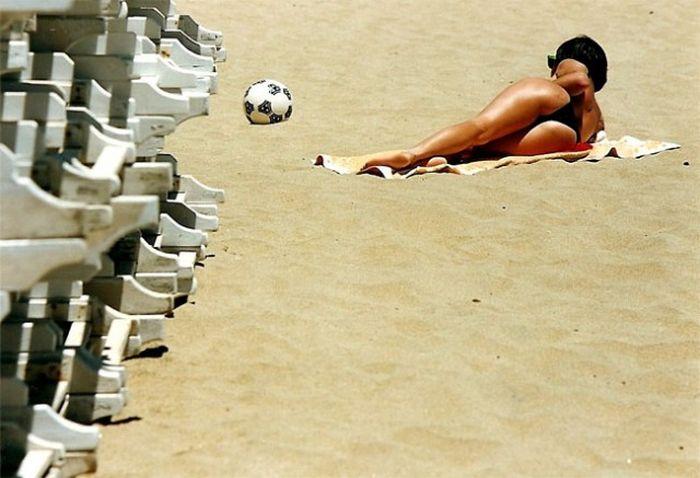 Цветные фотографии пляжной жизни Чили в 1980-е годы