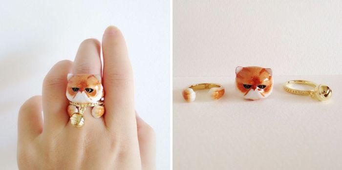 Кольца в виде фигурок животных