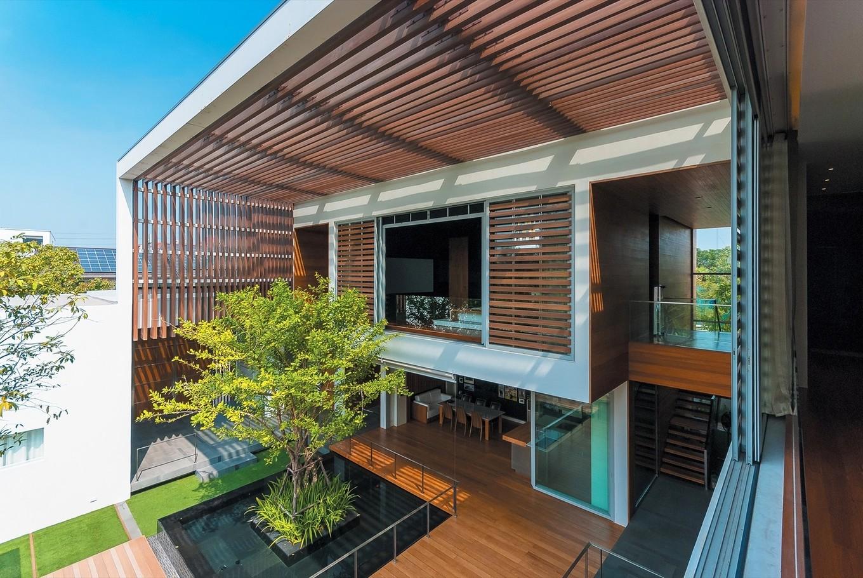 Природа и архитектура в проекте дома в Таиланде