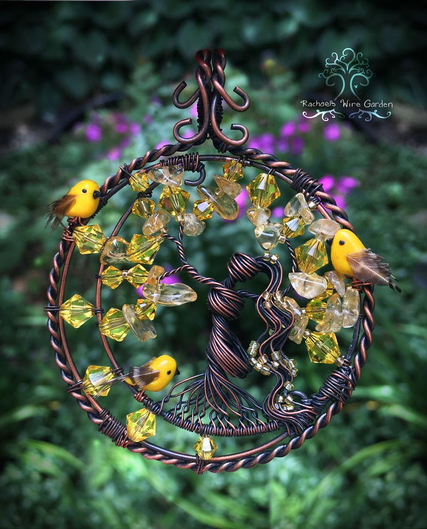 Ювелирные украшения из проволоки и стекла от Rachael