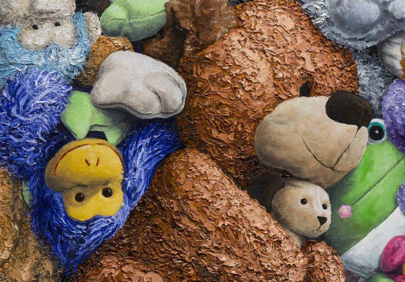 Поразительные картины с плюшевыми игрушками