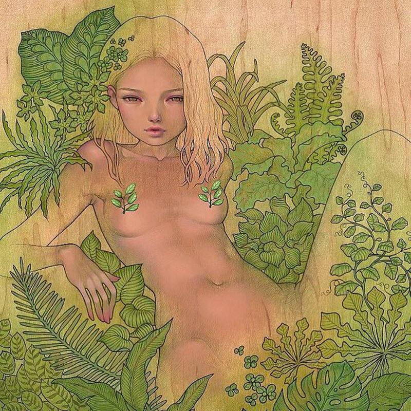 Соблазнительные картины на дереве от Одри Кавасаки