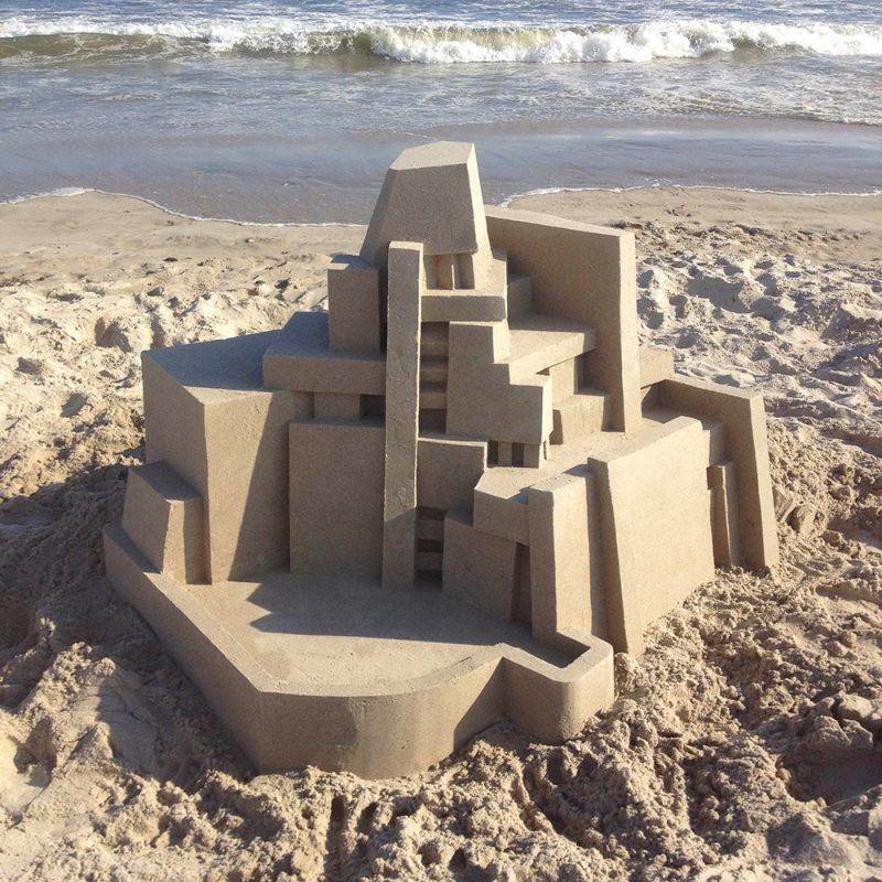 Песочные замки в стиле модерн от Кэлвина Сайберта