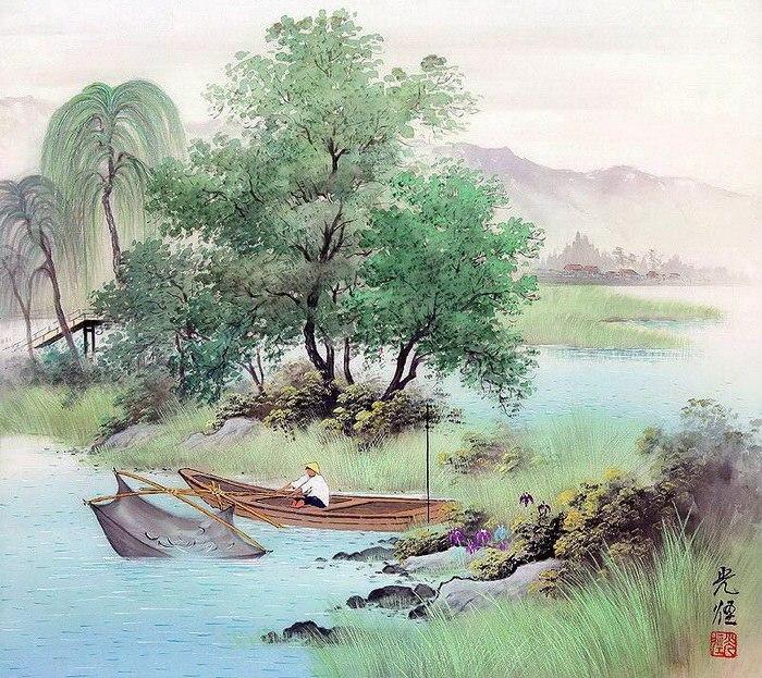 Умиротворяющие восточные рисунки от Коукей Коджима