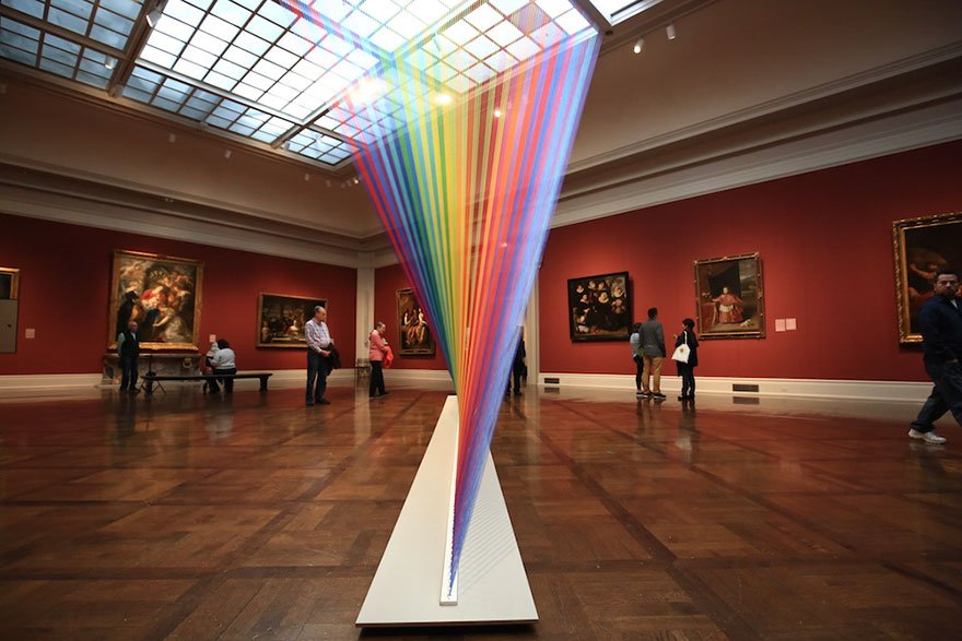 В художественном музее появилась рукотворная радуга