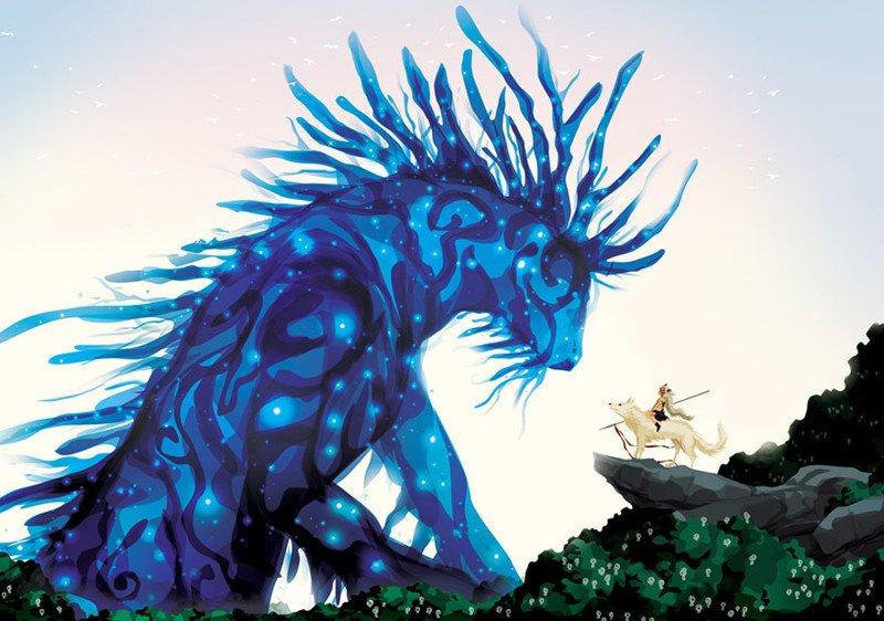 Вдохновляющие картины по мотивам аниме-фильмов студии Гибли