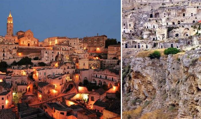 Древний город Матера - один из первых населенных пунктов в Италии