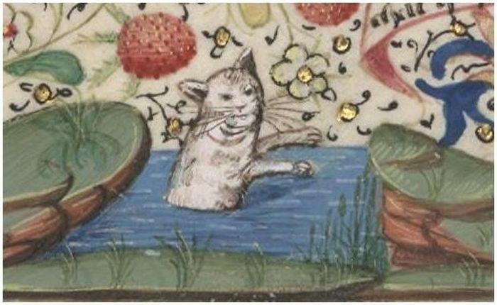 Кошки на картинах художников средневековья