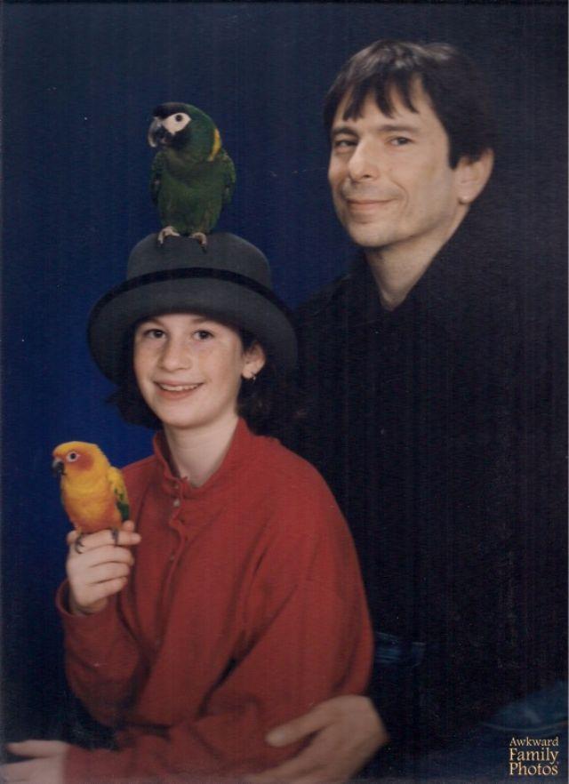 Странные семейные фото с домашними питомцами