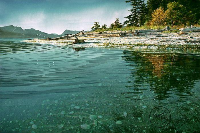 Удивительные реалистичные пейзажи от Кэрол Эванс