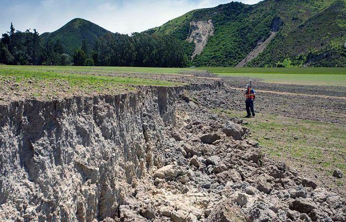 Землетрясение в Новой Зеландии раскололо остров Южный