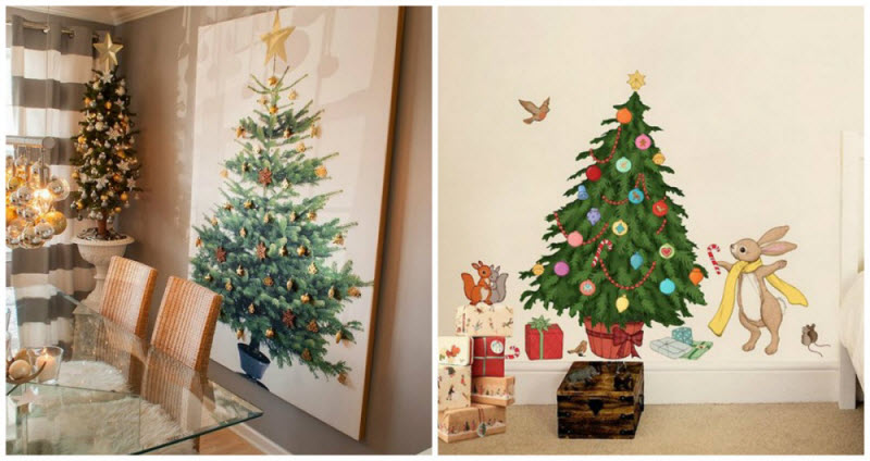 15 шикарных новогодних елок, которые можно сделать в два счета
