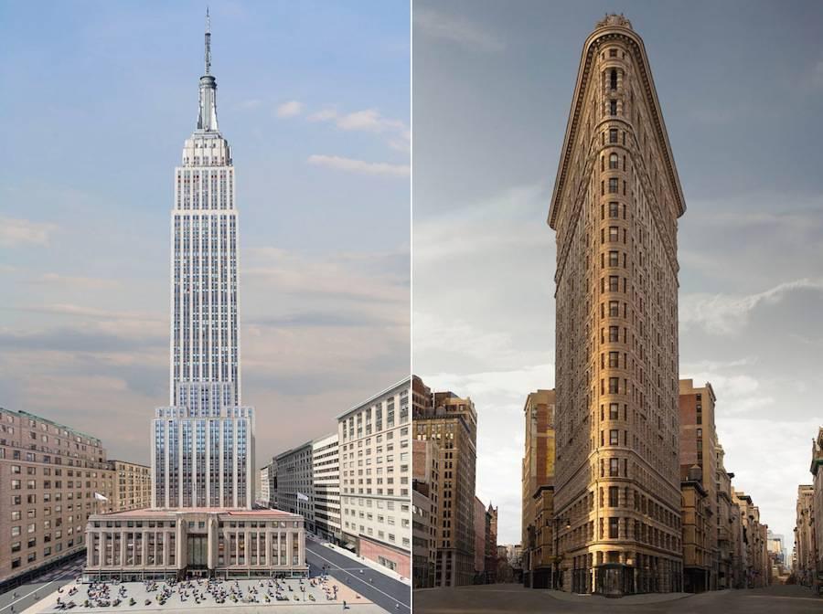 Старая архитектура Нью-Йорка