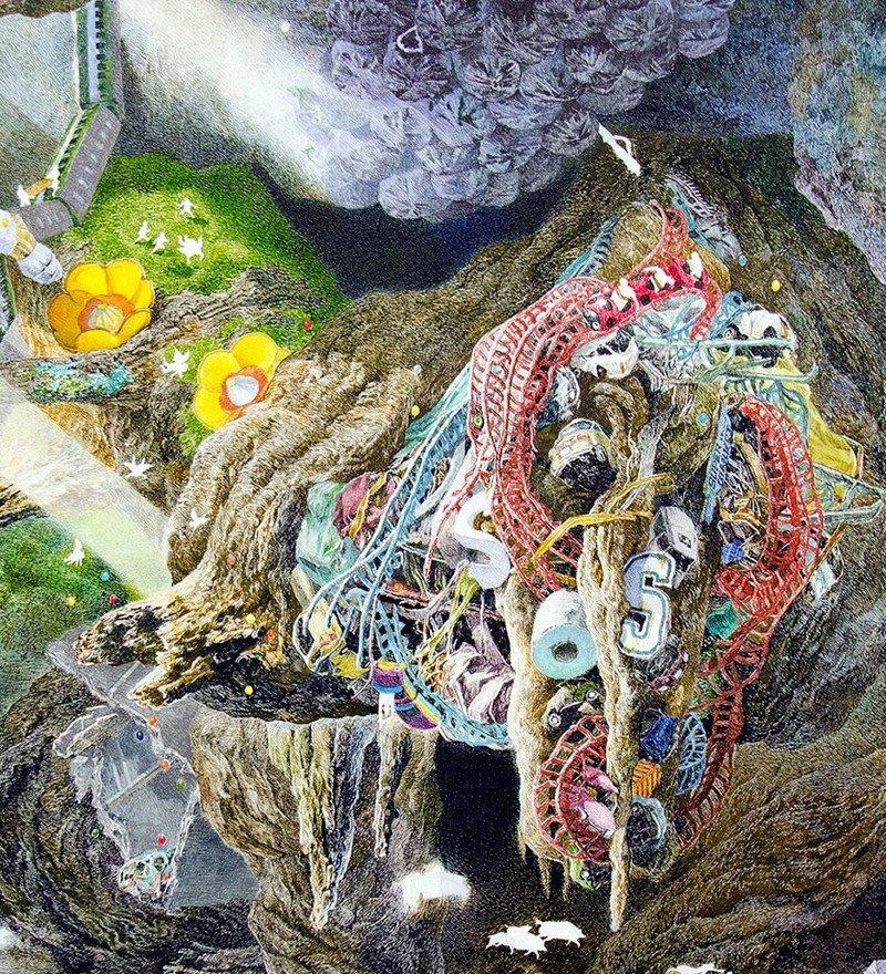 Японский художник создавал удивительную картину в течение 3,5 лет