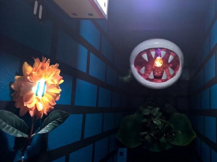 Коридор в стиле подземелья из Марио