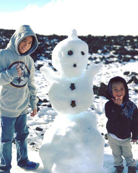 На Гавайях выпал снег