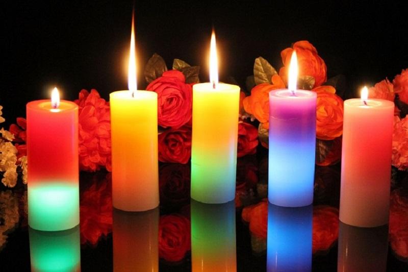 Делаем классные разноцветные свечи