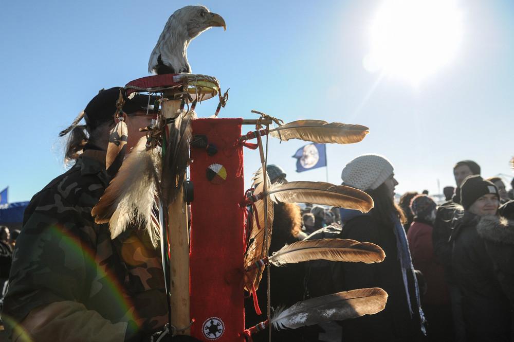 Коренные американцы протестуют против нефтепровода