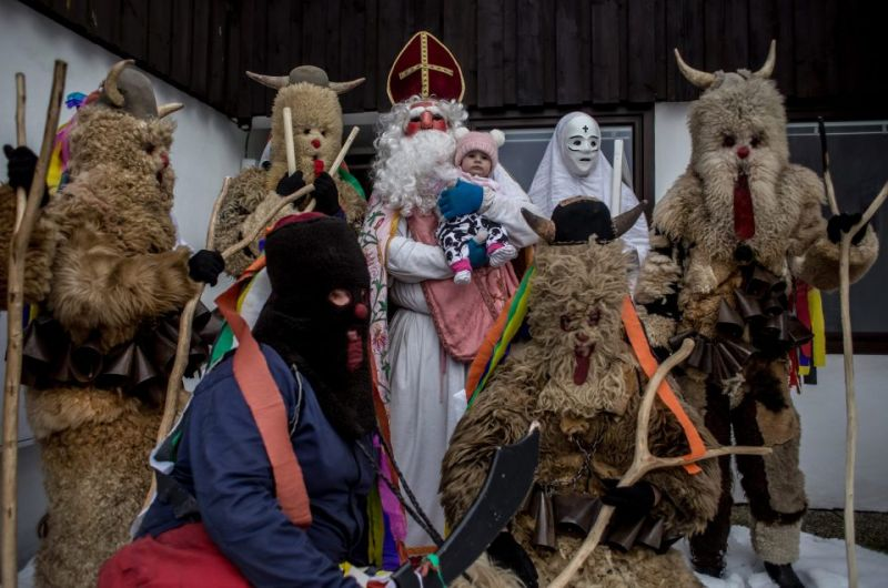 Костюмированный Рождественский парад в Чехии