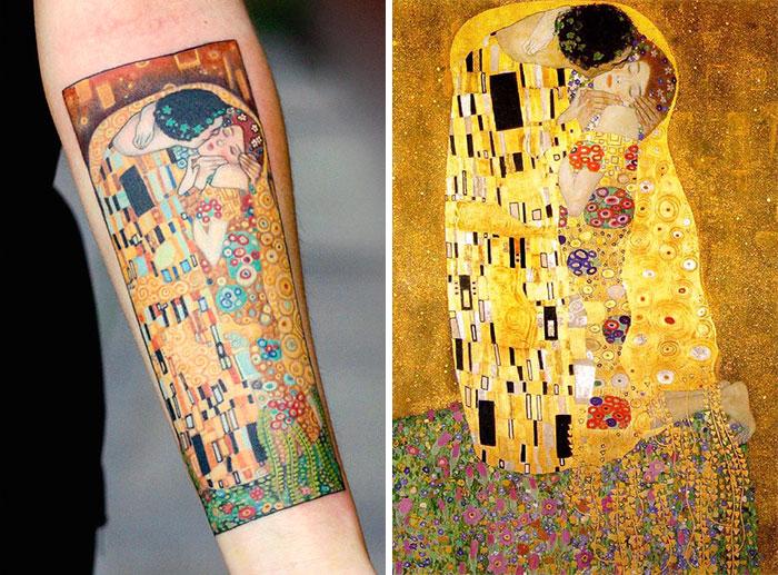 Татуировки, вдохновлённые творчеством Густава Климта