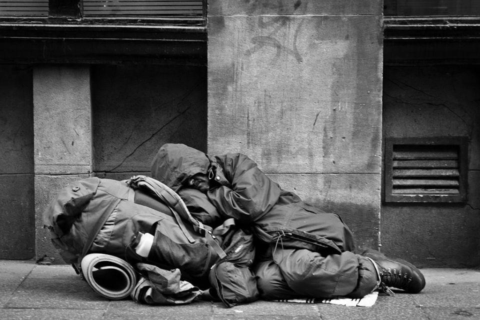 Бездомные на улицах Глазго