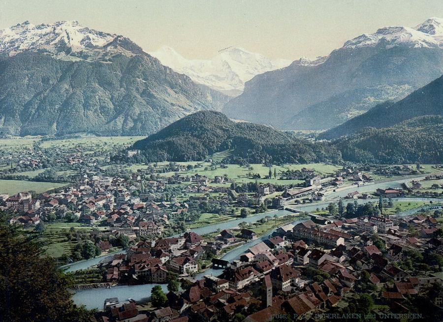 Швейцария на цветных открытках 1890 года