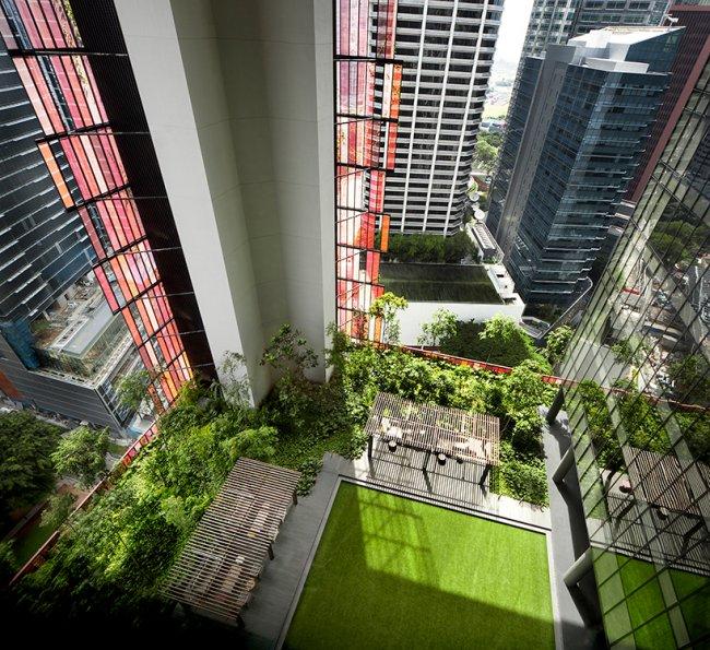 Башня Oasia Hotel в Сингапуре