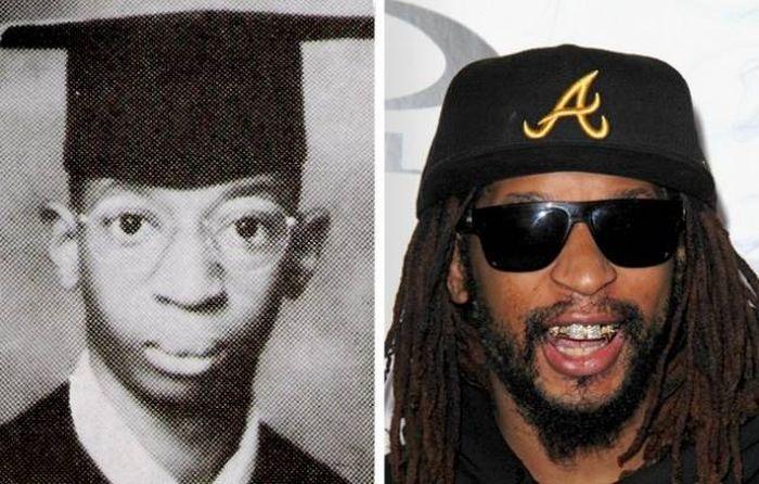 Знаменитости во время окончания школы и сейчас