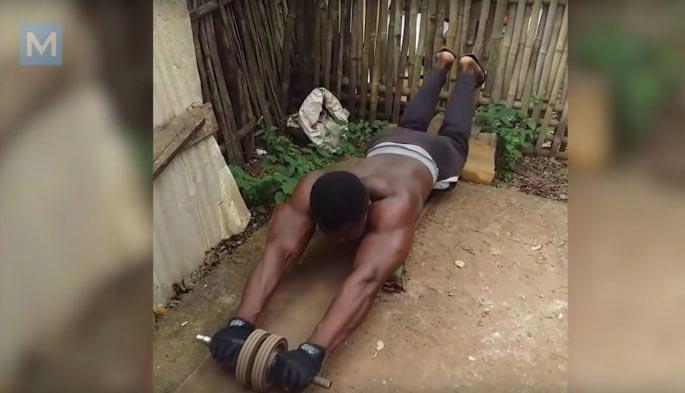 Африканские бодибилдеры и результат без тренажерного зала