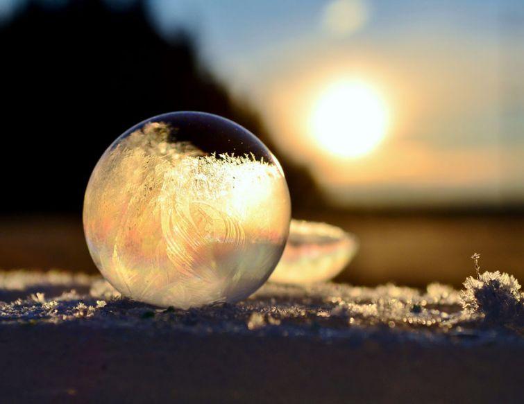 Ледяные скульптуры и узоры, созданные самой природой