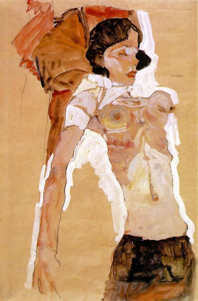 Эротические рисунки австрийского художника Эгона Шиле