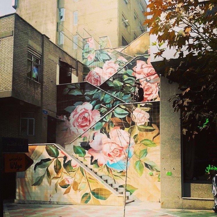 Потрясающие лестничные пролеты со всего мира, разукрашенные художниками