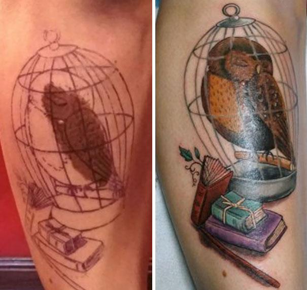 Родимые пятна как часть татуировок